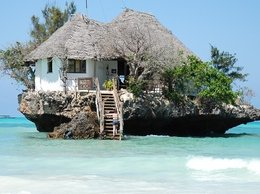 Restauracja The Rock na wyspie Zanzibar