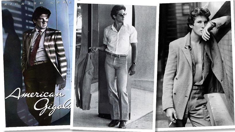 Richarda Gere'a w filmie Amerykański żigolak w kostiumach zaprojektowanych przez Giorgio Armani