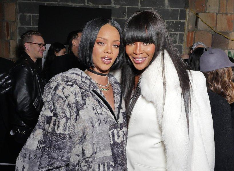 Rihanna i Naomi Campbell na pokazie Rihanny dla marki Puma.Fenty X Puma