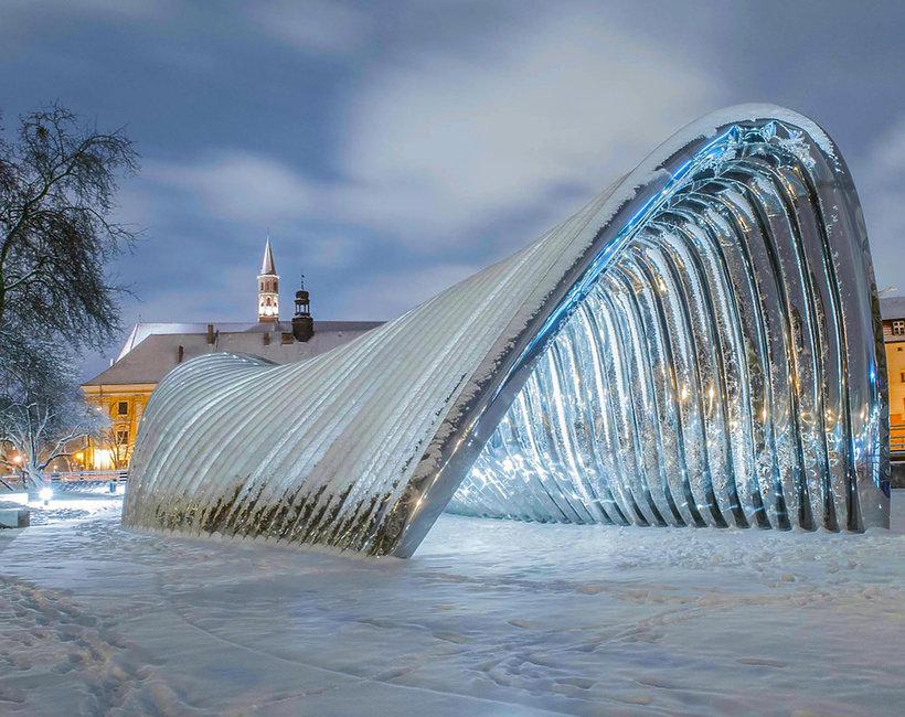 rzeźba w zimie