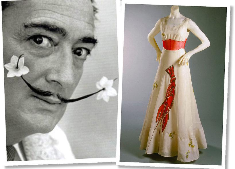 Salvador Dali namalował homara na sukni Elsy Schiaparelli