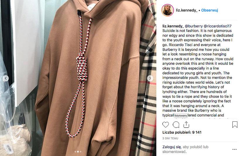 Skandal z kolekcją Burberry na jesień 2019