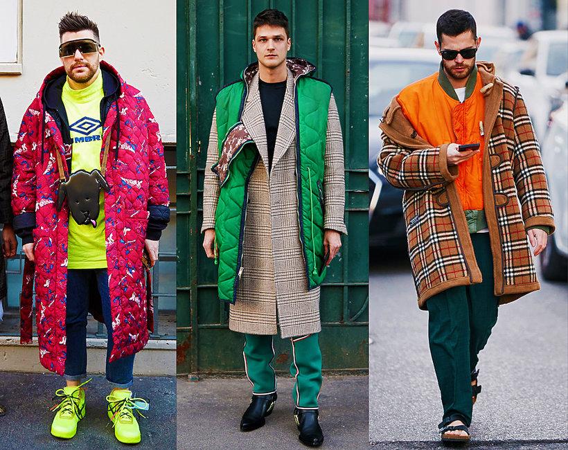 Street Style męskie pokazy na jesień 2019 Mediolan