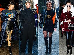 Street Style modelki nowojorski Tydzień Mody