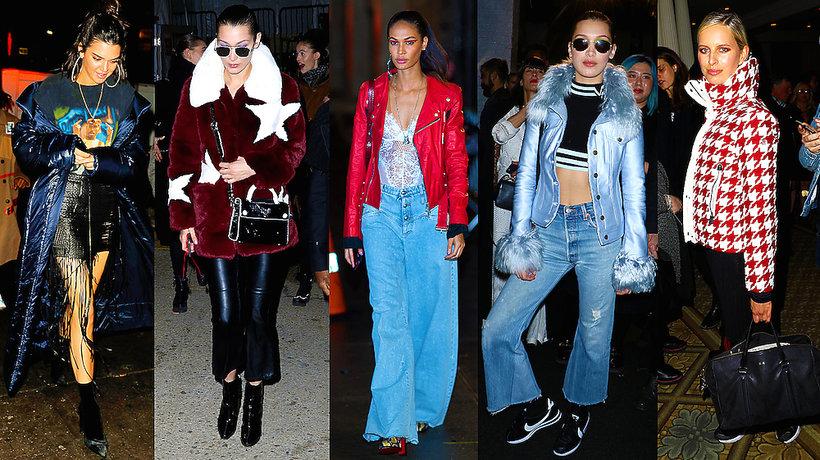 Street Style modelki nowojorski Tydzień Mody- MAIN TOPIC