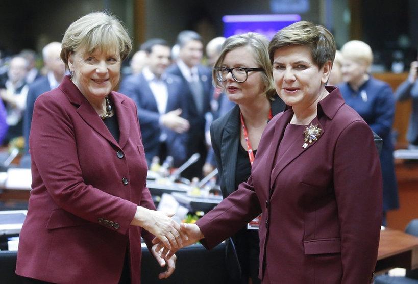 Styl premier Beaty Szydło, Angela Merkel