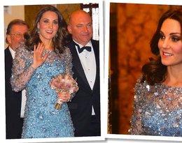 Księżna Kate w bajkowej sukni godnej… księżniczki Disney'a! Zobaczcie jej buty na niebotycznie wysokich obcasach!