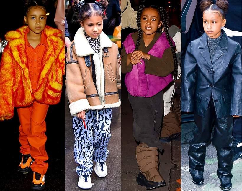 Stylizacje North West  córki Kim Kardashian z Paryża 2020