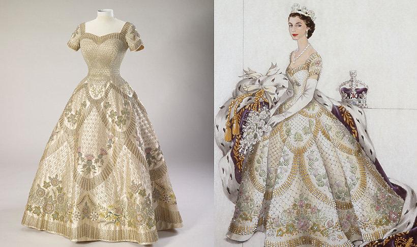 Suknie królowej Elżbiety II na wystawie w Buckingham Palace