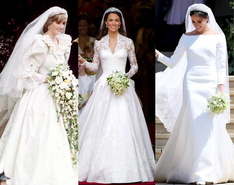 Suknie ślubne Księżnej Diany Kate Meghan Vivapl