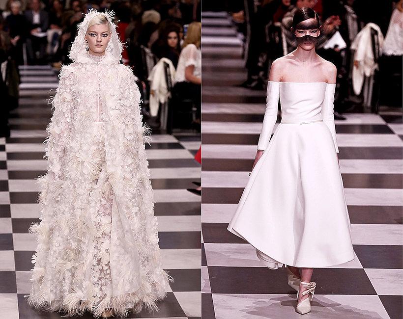 suknie ślubne z pokazów haute couture na wiosnę 2018