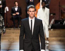 Syn Cindy Crawford, Presley Gerber na pokazie Dolce & Gabbana