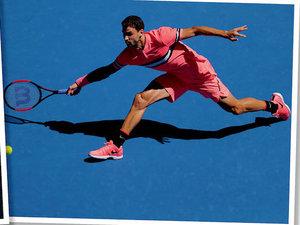 Tenisiści w różowych strojach na Australian Open