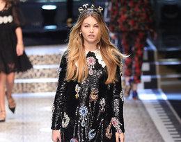 Thylane Blondeau na pokazie Dolce & Gabbana