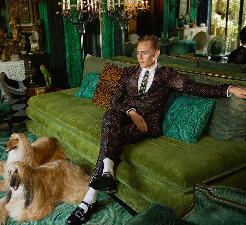 Tom Hiddleston w najnowszej kampanii Gucci
