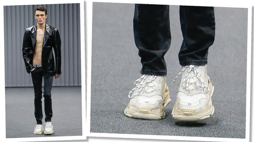 Trend brudne buty Balenciaga