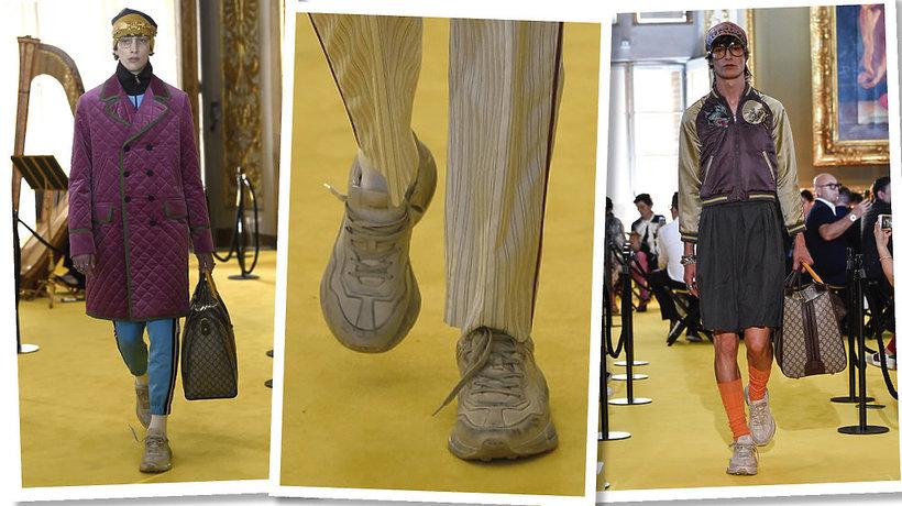 Trend brudne buty Gucci