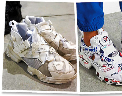 Trend brudne buty Gucci, Vetements x Reebok