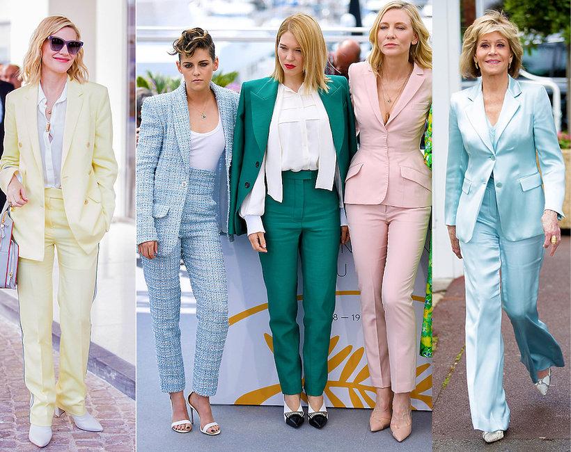Trend na Festiwalu w Cannes, gwiazdy w garniturach