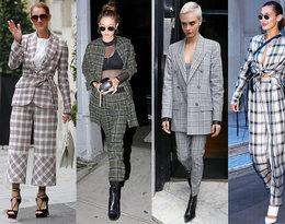 Chcesz być modna tej jesieni? Wybierz tak jak Gigi Hadid i Céline Dion kraciasty total look!