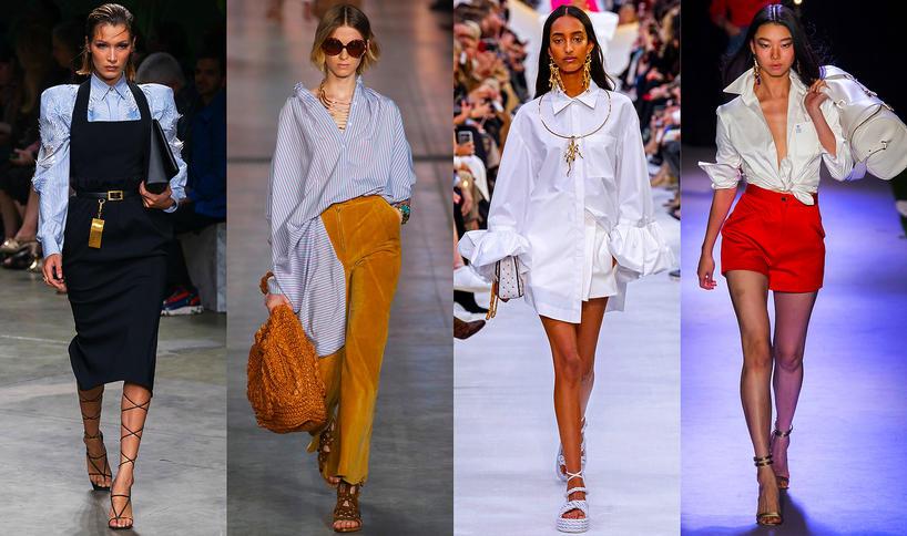 Trendy na wiosnę 2020 Elegancka klasyczna koszula