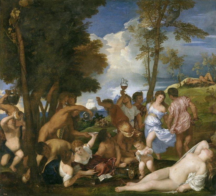 Tycjan, Bachanalia na wyspie Andros, 1518/19