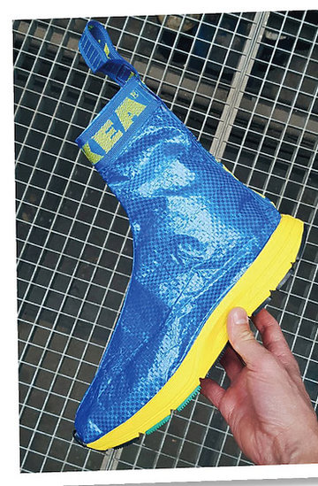 ubrania i dodatki z niebieskich toreb Ikea