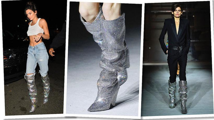 urodzinowa stylizacja Kendall Jenner w butach Saint Laurent