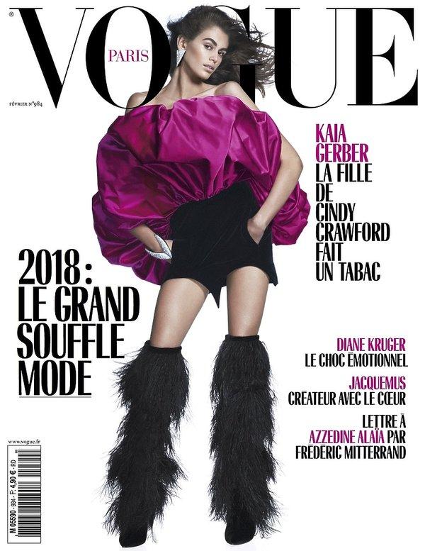 """""""Vogue"""" nie będzie zatrudniał modelek młodszych niż 18 lat!, Kaia Gerber na okładce Vogue"""