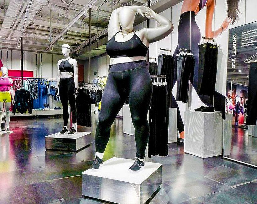 W londyńskim sklepie Nike pojawiły się manekiny plus size