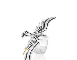 W.KRUK Freedom, piereścionek, srebro z elementem pozłacanym, cena 449 zł