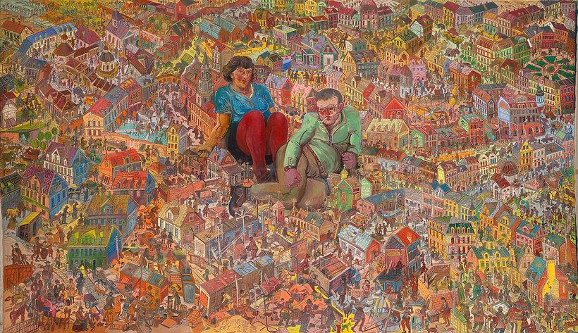 """Wystawa """"75 x 75 Dwurnik"""" Edwarda Dwurnika w Państwowej Galerii Sztuki w Sopocie"""