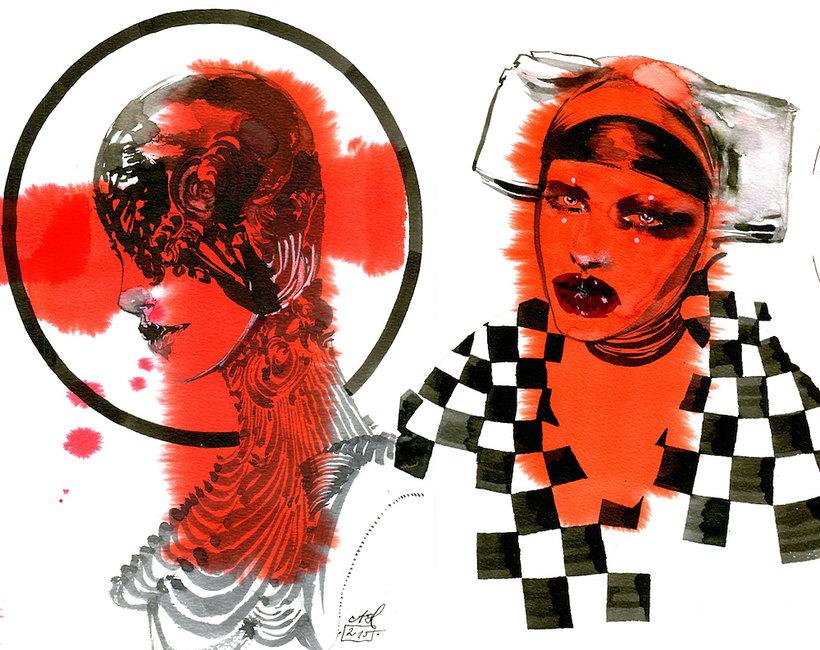 """wystawa Anny Halarewicz """"Tribute to McQueen"""""""