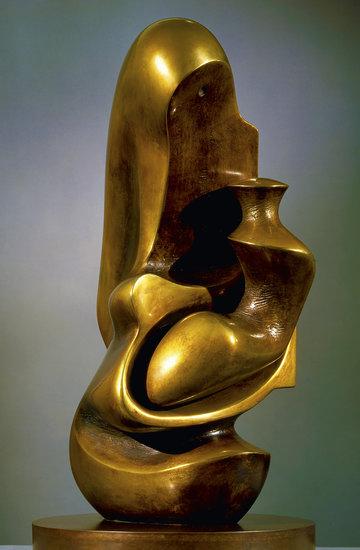 wystawa rzeźb Henry'ego Moore'a w Centrum Rzeźby Polskiej w Orońsku