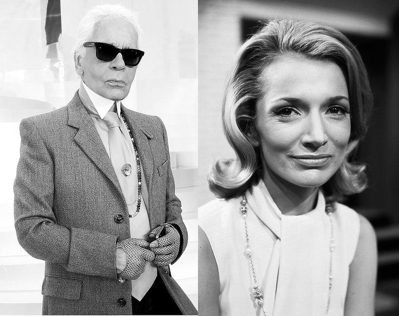 Zmarli ze świata mody w 2019 roku Karl Lagerfeld Lee Radziwiłł