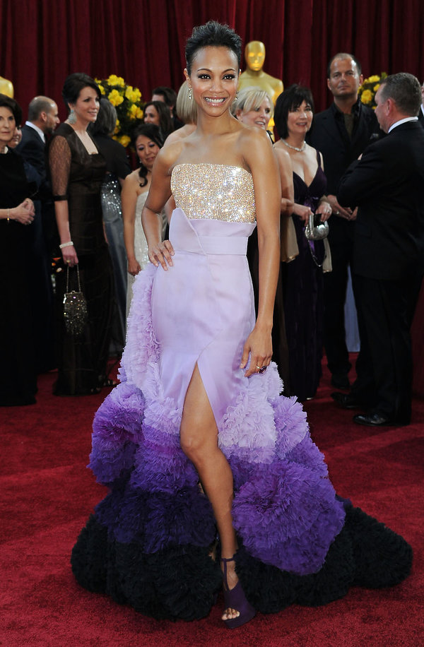 Zoe Saldana w kreacji Givenchy