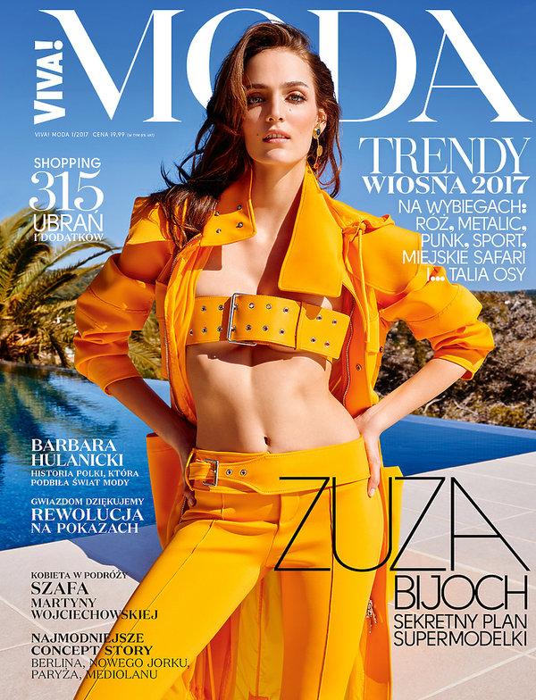 Zuza Bijoch na okładce magazynu VIVA MODA