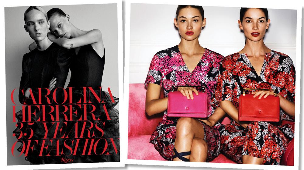"4934e797f7a8c Album ""Carolina Herrera: 35 Years of Fashion"" i torebki z kolekcji Insignia  Collection."